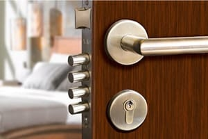 Cerradura de seguridad, puertas y bombines